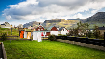 clothes drying on clothesline faroe islands