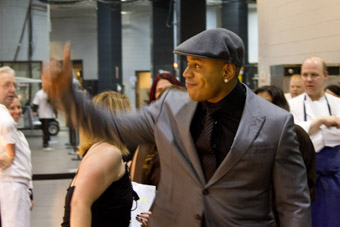 LL Cool J at Muhammad Ali's seventieth birthday party in vegas