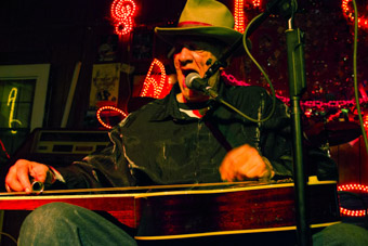 Watermelon Slim performing at Red's Clarksdale Mississippi