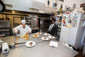 kosher kitchen with rabbi inspecting in queens new york