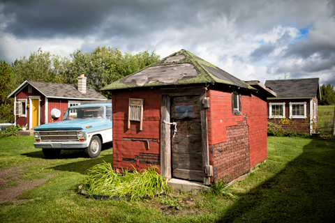 Old Ford truck and shack Upper Peninsula Michigan